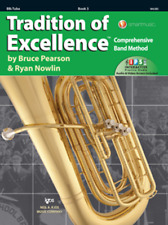 Tradition Of Excellence-Tuba Music Book & Internet Access Level 3 New On Sale!