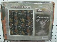 The Huntsman Camo Trees Luxurious Sheet Set 1600 Queen size Camouflage Bedding