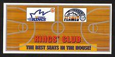 Sydney Kings & Flames--1998 Ticket Brochure/Schedule--Australian Basketball