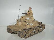 KING AND COUNTRY EA059 8TH ARMY AUSTRALIAN CARRO ARMATO M13/40 TANK + COMMANDER