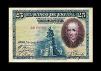 SPAIN 1928 25 PESETAS P-74-B BANKNOTE ☆ AU-53-55 ☆ PRE-REPUBLIC ☆ CRISP NOTE ☆