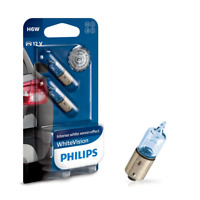Philips H6W 12V 6W BAX9s WhiteVision 2st. Philips 12036WHVB2