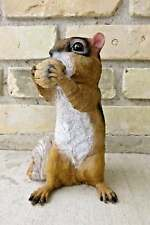Chipmunk standing with Nut in Mouth New 8.5 in.Resin Countryside Animal Statue