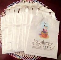 Longaberger Homestead Plastic Gift Bags Tote Lot Of 10 Brand New