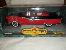 ERTL AMERICAN MUSCLE 7258 FORD SUNLINER Conv 1956 rouge/noir 1/18 état neuf &
