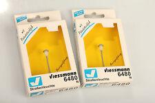 Viessmann N 6480 2 pc. Street Lamp Incandescent Cabinet Storage 34 approx. Never
