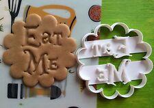 "Cookie Cutter Cookie ""Eat me"" cookiecutter cookies custom shape"