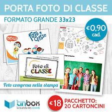 CARTONCINO PORTA FOTO DI CLASSE 33x23_ Pacchetto 20 cartoncini con foto_scuola