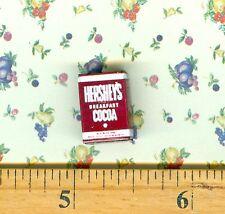Dollhouse MINIATURE Size Unsweetened Cocoa Powder Box