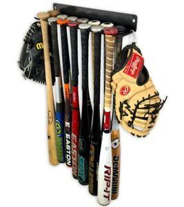 StoreYourBoard Baseball Bat Storage Rack, 14 Bat Caddy, Hanging Wall Organizer
