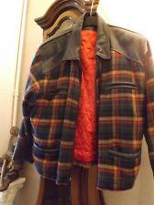 veste canadien tissus cuir et l