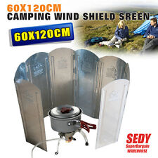 X-large Foldable Camping Windshield Screen Picnic BBQ Barbecue Cooking 60x120cm