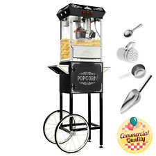 Open Box - Vintage Style Popcorn Machine Maker Popper with Cart