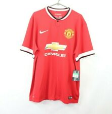 New Nike Mens XL Manchester United Chevrolet Football Soccer Jersey Red 2014/15