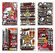 Golden Metal Mulisha Rockstar Stickers Motorcycle MX1 ATV Motorbike Kits Decals