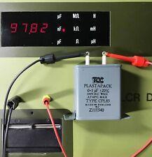 1 Pcs  - TCC PLASTAPACK - Paper In Oil (PIO) Capacitors - 0.1 uF / 350 VDCW