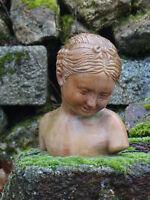 buste fillette terre cuite,magnifique,30 cm environ