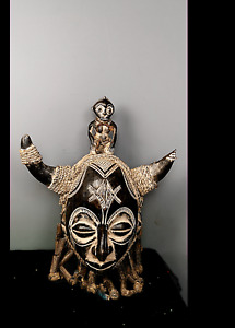 Outstanding Tribal King Chokwe Mega  Mask    ---  Angola