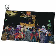 Disney Villain Canvas Heart Zip Coin Purse Cosmetic Wash Bag p14 w0016