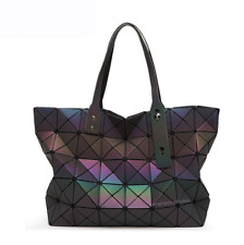 Extra Large Women Shoulder Bag Holographic Bags Color Changeable