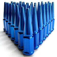 Extended Spike Lug Nuts 14x2.0mm RH Size Blue Pack of 32 for 1999-2002 Ford F350