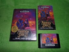 Phantasy Star II 2 - Sega Genesis Complete with Case and Manual
