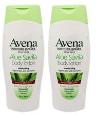 2 AVENA Aloe 100% Natural Body Moisturizing Lotion Regenerates & Nourishes 17oz