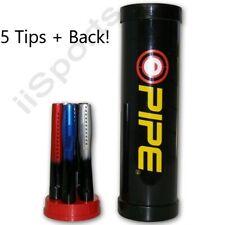 """Evil Pipe 6pc Spyder Jt Paintball Piranha Gun Stepped Barrel Set 12"""" Tips + Back"""