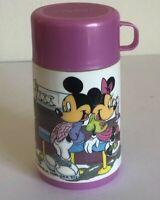 Mickey And Minnie Thermos Pink Walt Disney Vintage 1988 Aladdin Diner Scene