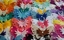 Layered Felt Butterflies (6) Butterfly shapes, die Cut Craft Embellishments