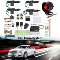Remote Car Alarm Keyless Entry Security + 4 Door Power Lock Actuator Motor