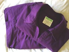 Ladies Plum Scrubs Uniform Set Purple Medical Large Health pro Free Ship