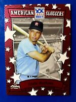 2002 Topps American Pie Sluggers Red Astros Baseball Card #18 Eddie Mathews