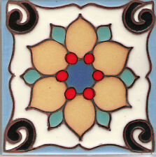 "Reproduction Wall Tiles Wall Dragon Flower 'A'  4""x4"""
