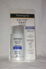 Neutrogena Pure & Free Liquid Sunscreen Broad Spectrum SPF 50 1.4oz New in Box