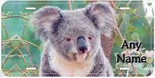 Koala Aluminum Any Name Personalized Car Auto Novelty License Plate