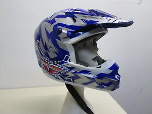 Fly Racing Helmet Jerry Lathrop M Full Face Visor Fl-304 Excellent Cond. 58cm