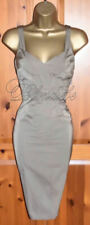 🎀 KAREN MILLEN STUNNING TAUPE MOCCA COCKTAIL DRESS UK 16  WEDDING RACES CRUISE