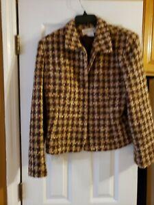 Jones New York Womens Blazer Size 14, beige and brown originally $129
