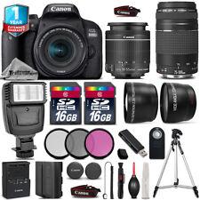 Canon Rebel 800D T7i Camera + 18-55mm + 75-300mm + Flash + EXT BAT +1yr Warranty