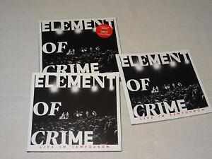 ELEMENT OF CRIME - LIVE IM TEMPODROM / 2-CD-SET 2019 (MINT-) IM PAPPSCHUBER