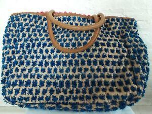 Anthropologie Miss Albright Specialty Trompe L'oeil Shoulder Bag Tote RARE NWOT