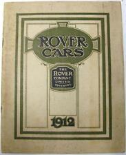 ROVER Range 6HP 8HP 12HP 18 HP cars Original Car Sales Brochure 1912