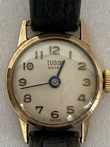 Tudor loyal 9K GOLD Vintage WATCH  WITH box warranty ROLEX 1978 gift