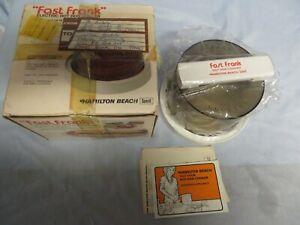 NIB HAMILTON BEACH FAST FRANK ELECTRIC HOT DOG COOKER MODEL 489
