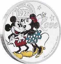 2017 Disney Mickey and Minnie - True Love Forever 1 oz silver coin