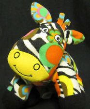 "Beeposh 10"" Flower Power Colorful Zebra Plush"