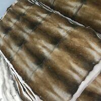 "Luxury Real Sheared Rabbit FUR Pelz Throw Patchwork Skin Rug Blanket 41"" x 22"""