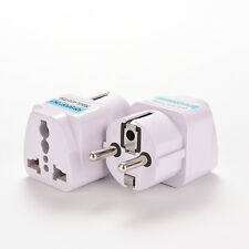 Portable US AU to EU European Power Socket Plug Adapter Travel Converter Sp
