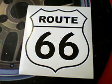 Route 66 Noir sur Blanc Rétro Voiture Hot Rod Autocollant Sticker motorhome 1 off 150mm